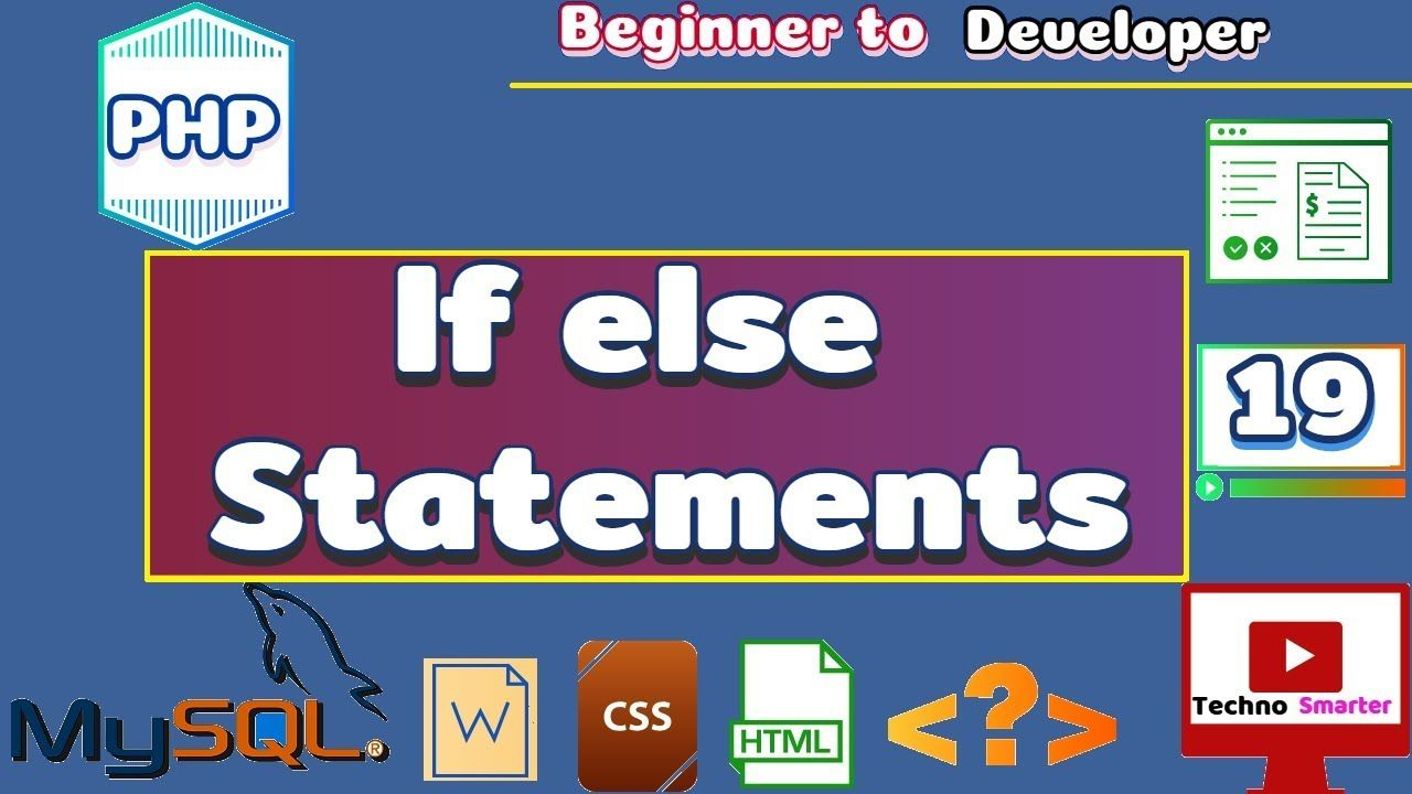 If Else Statements Php Conditional Structure Tutorials For