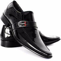 557bcd4e4 Sapato Social Masculino Envernizado Super Luxo | Dress Shoes in 2019 ...