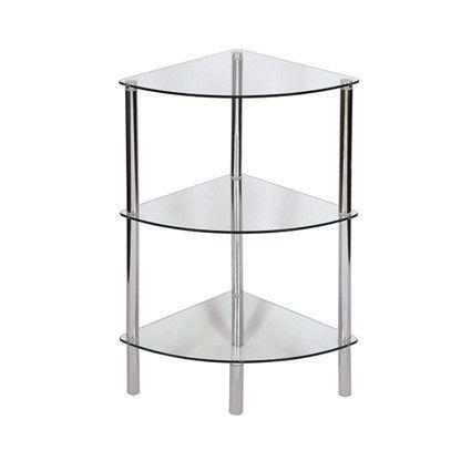 sierra 3 tier glass corner shelving unit bookcases corner rh pinterest com