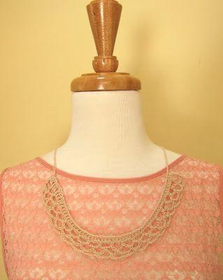 Mel P Designs Free Crochet Collar Pattern Fashion Pinterest