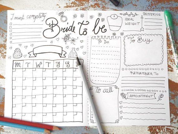 15 wedding Planner diary ideas