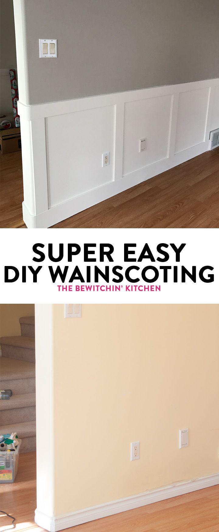 easy wainscoting diy