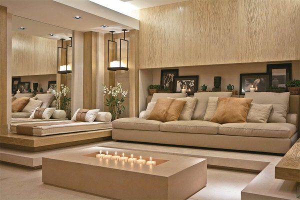 Nice Farbgestaltung Beige Wohnzimmer Modern Einrichten Design Inspirations