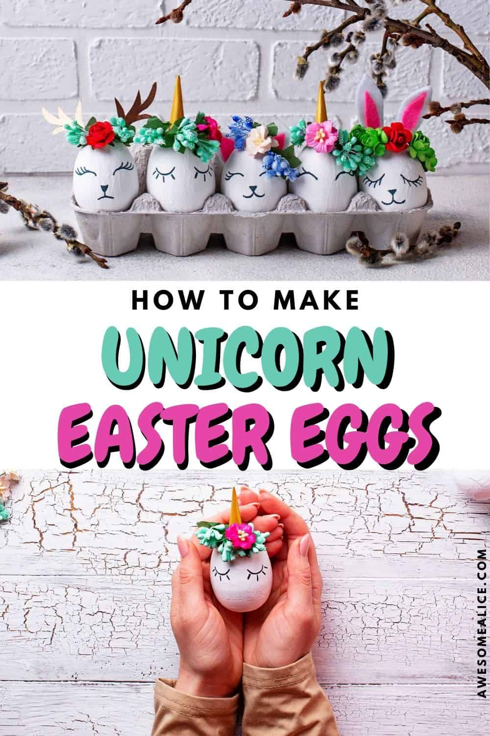 How To Make Unicorn Easter Eggs Quick Easy Easter Craft Easy Easter Crafts Easter Crafts Unicorn Easter Basket