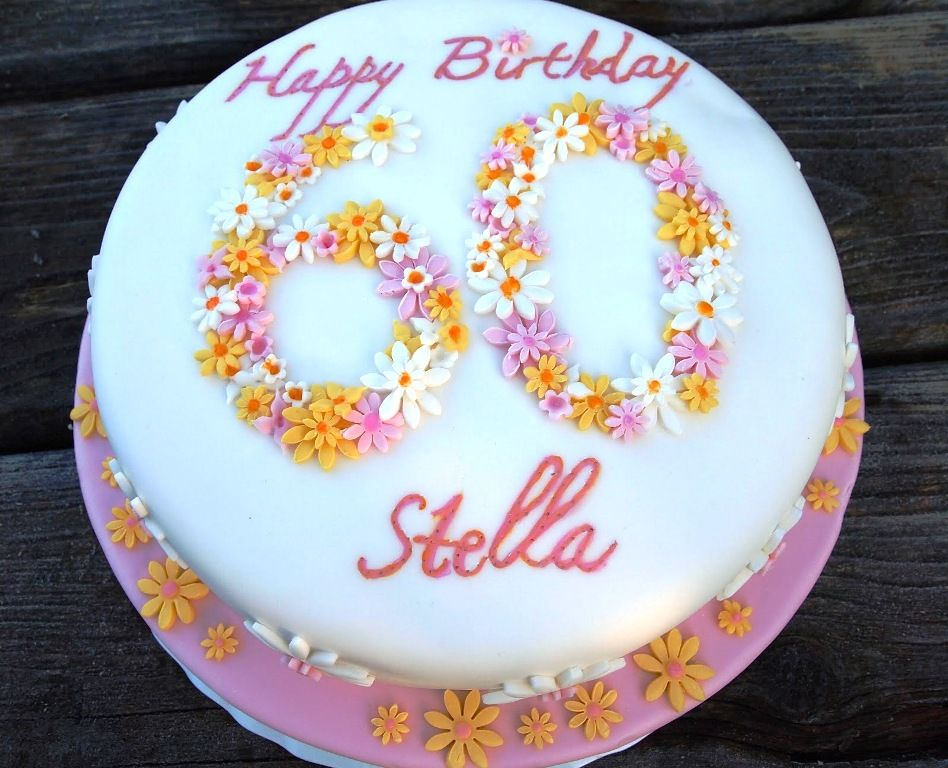 Image Result For Ladies 60th Birthday Cake Cakes