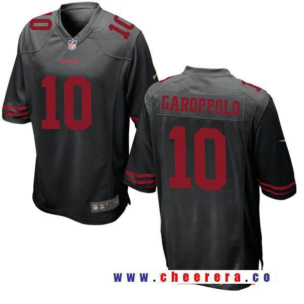 super popular c865b 9c376 Men's San Francisco 49ers #10 Jimmy Garoppolo Black ...