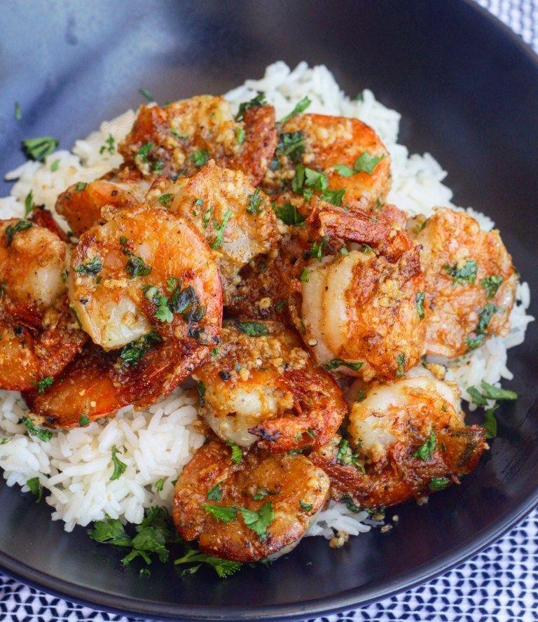 Hawaiian Garlic Shrimp - Ev's Eats