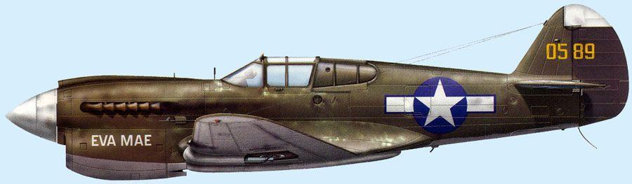 P-40E Warhawk 343FG344FS 40-589 Aleutian Islands 1943