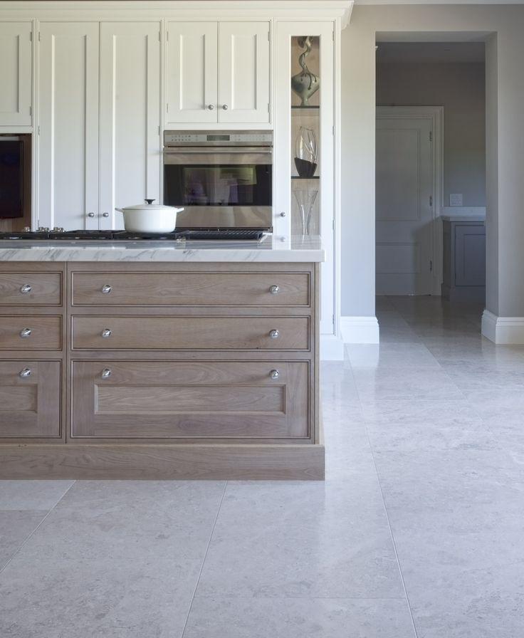 Beige Kitchen, French White Oak Kitchen Cabinets