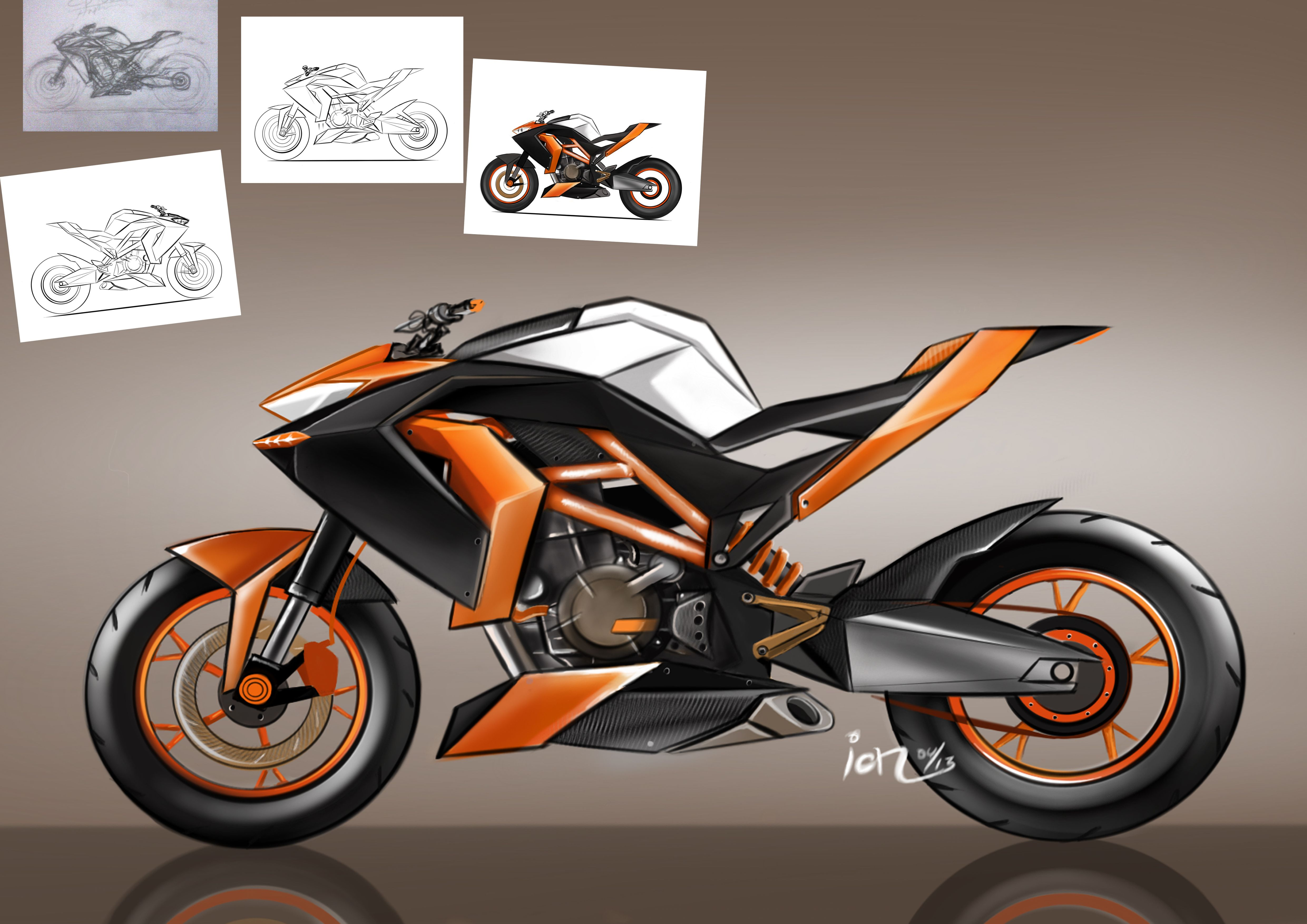Ktm Duke Concept Draw Concept Motorcycles Bike Design