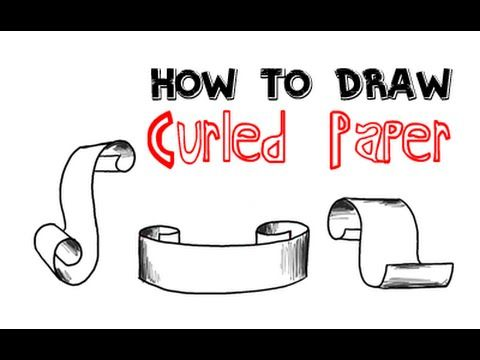 Learn How To Draw Curled Up Paper That You Can Use On Your Art Projects These Make Really Cool Banner Like Illustrations Hav Drawings How To Draw Steps Paper