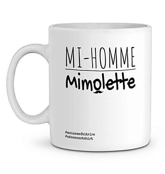 Mug En Céramique - Mi-Homme Mimolette - Zé Connect Shirt