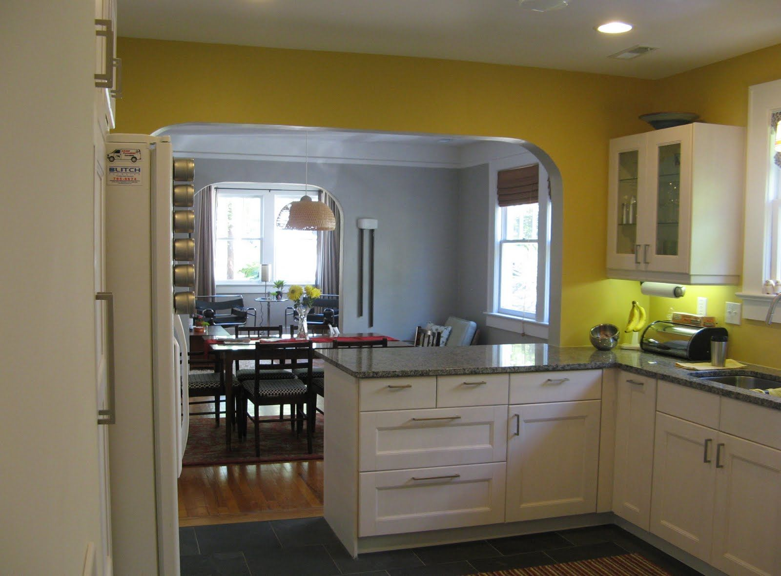 Kitchen Dining Room Combo With Island Layout