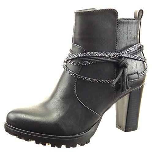 Calzature & Accessori neri con tacco a blocco per donna Sopily Tienda De Venta De Verdad Falsa Precio Barato R2heK