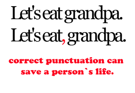 Punctuation IS important!