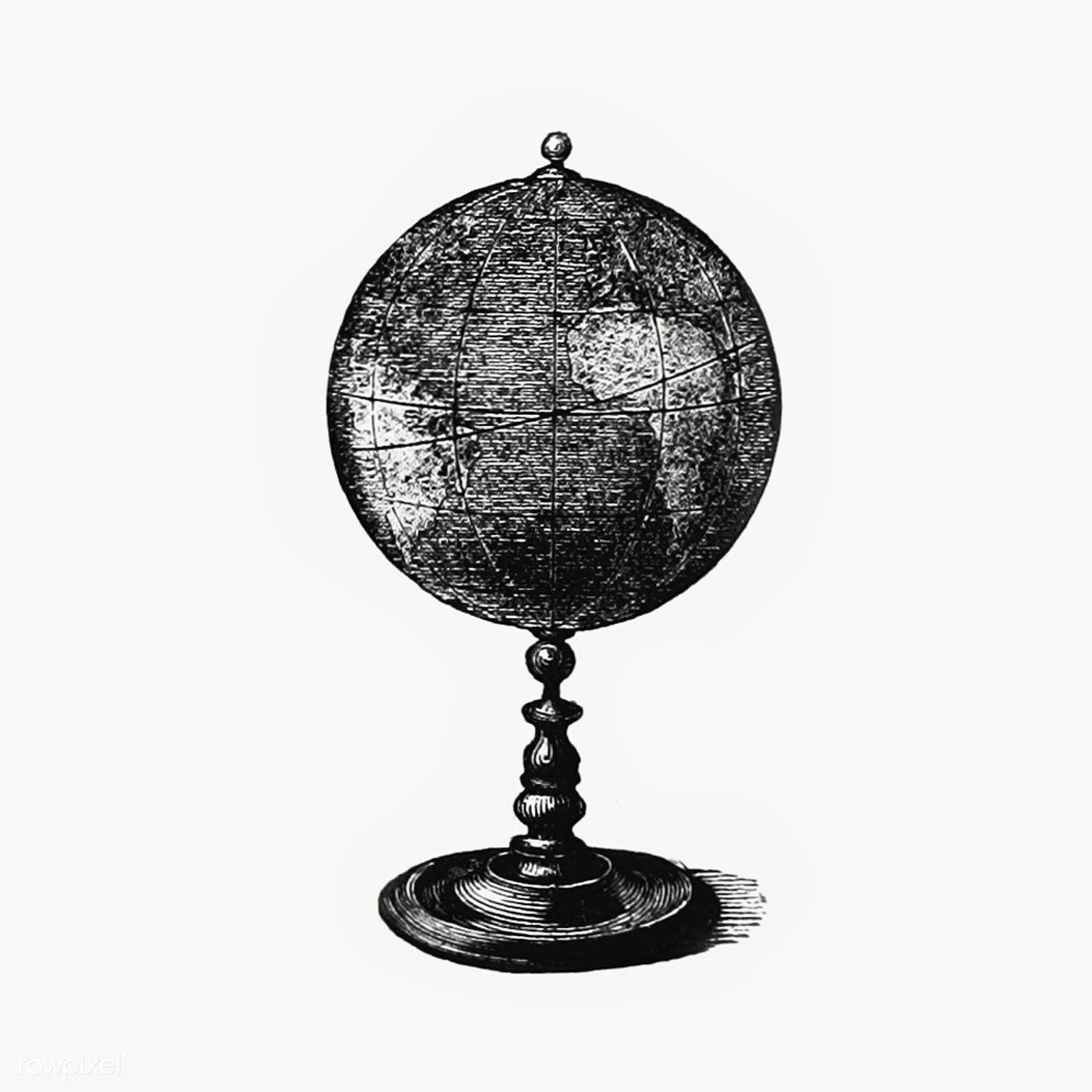 Download Premium Png Of Terrestrial Globe Icon Transparent Png 2041977 Globe Icon Vintage Globe Globe