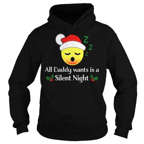 Funny Daddy Want Silent Night Sleeping Emoji Christmas Shirt Limited