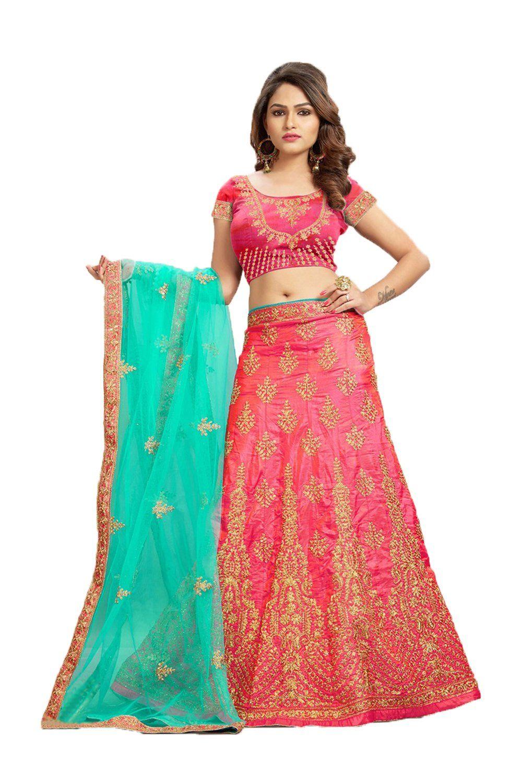 Mrsindia indian women designer wedding pink lehenga choli k