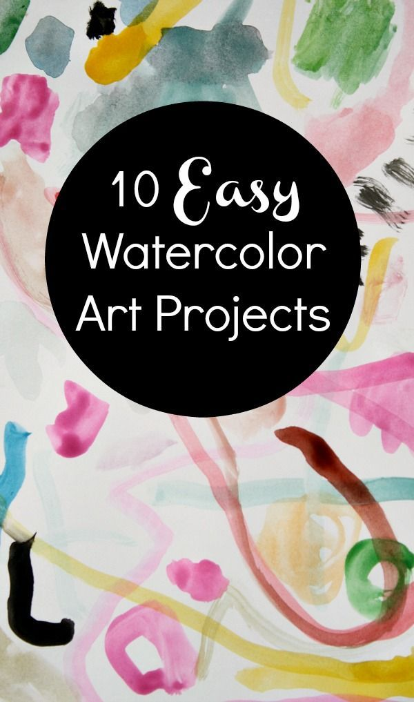 Art Projects Using Only Watercolors And A Marker