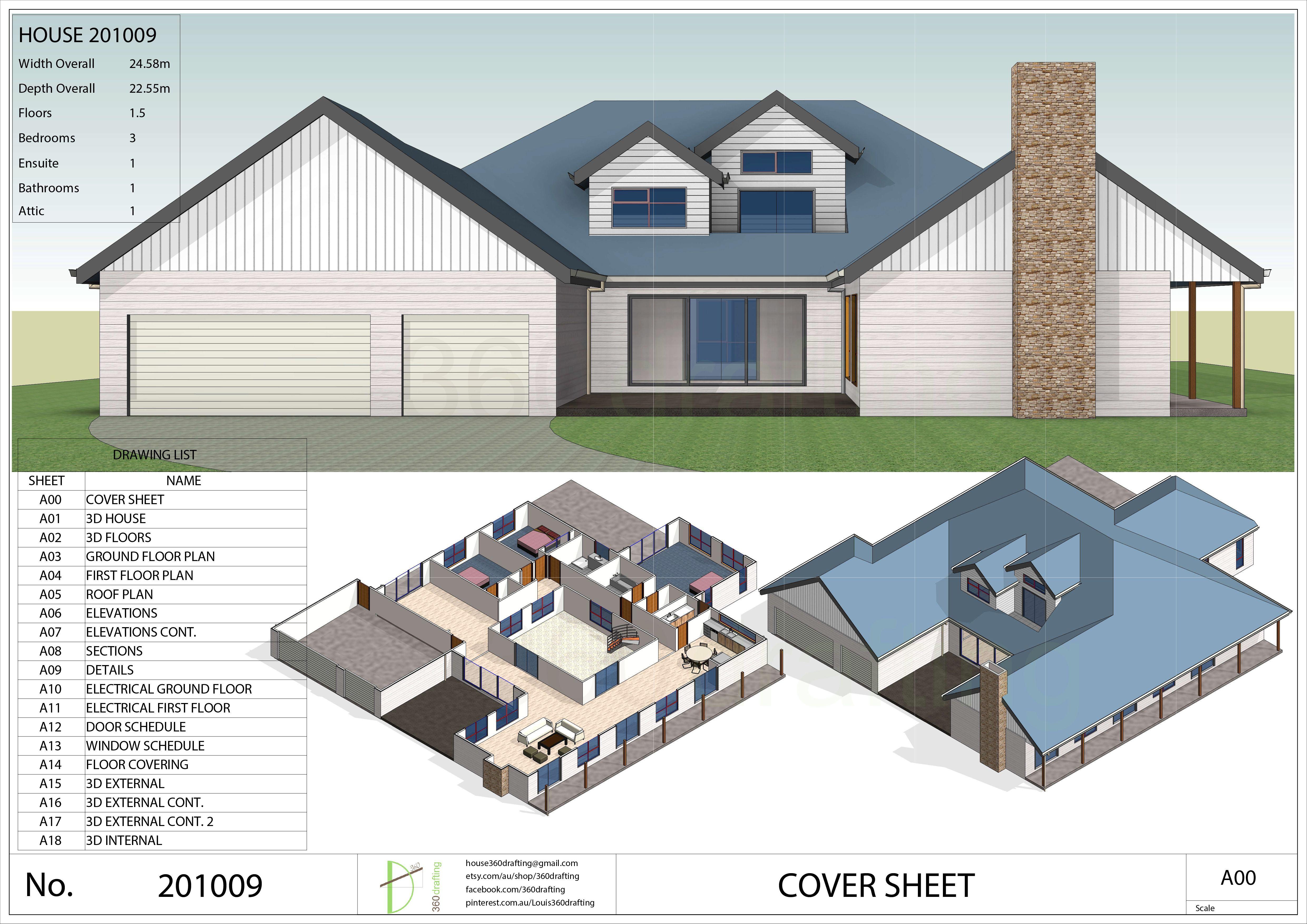 HOUSE PLAN 3 bedrooms bathrooms pdf floor plan instant CUSTOM plans service