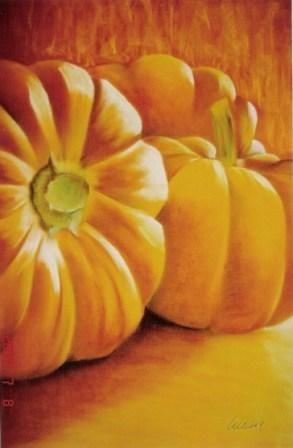 """""""Calabazas"""" 75 x 55 cms Pastel 2006"""