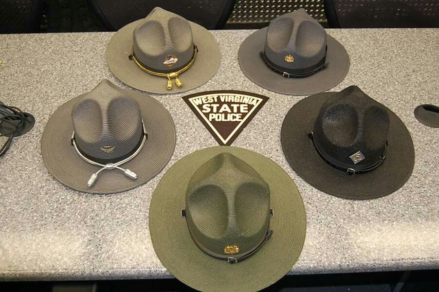 Wv Oh Ky Pa Nc Police Campaign Hats Wv State Police Fb Page Police Hat Military Hat State Police