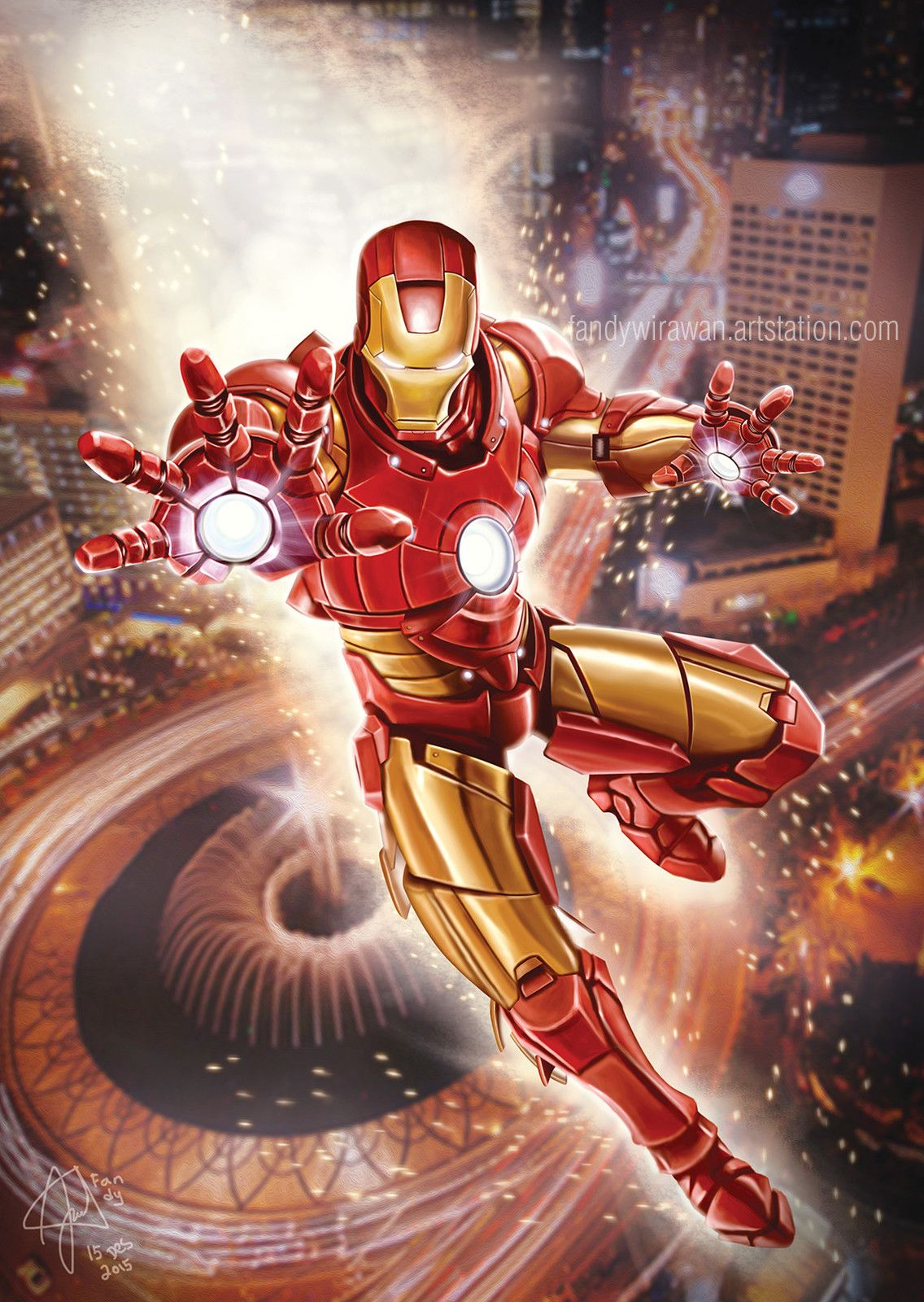 Iron #Man #Fan #Art  (Iron man) By: Fandy Wirawan  (THE * 5