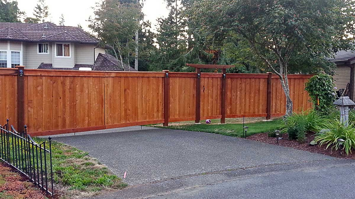 Ajb services installed this huge cedar estate fence for a ajb services installed this huge cedar estate fence for a subdivision in spanaway wa request a free quote for your fencing project at httpajb baanklon Image collections