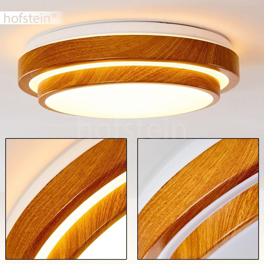 Details Zu Runde Led Bade Zimmer Decken Lampen Holz Optik Design