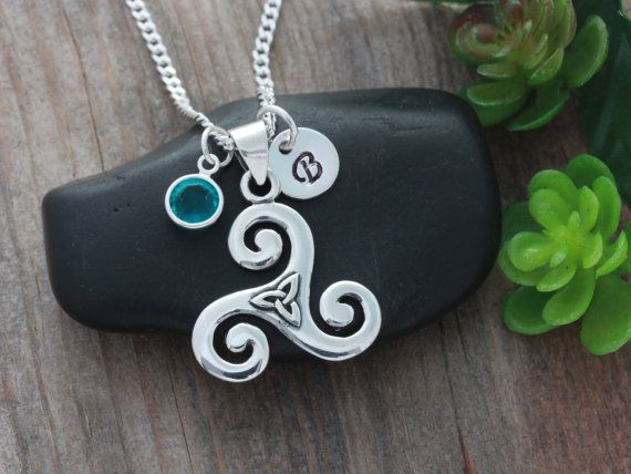 Triskelion Necklace With triquetra Sterling silver by LifeOfSilver