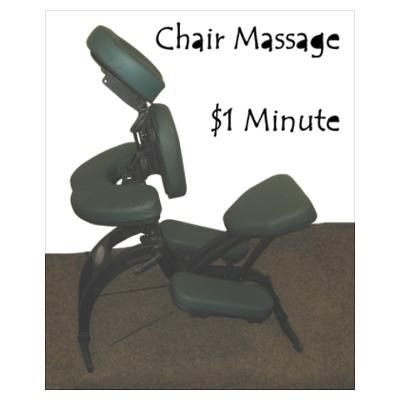Chair Massage 1 Minute Poster Massage Massage Therapy Massage Chair