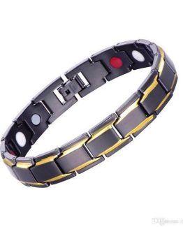 Anium Steel Magnetic Sport Bracelet For Men Natural Pain Relief In Black Jewelry Magnet Arthritis Mens Bracelets