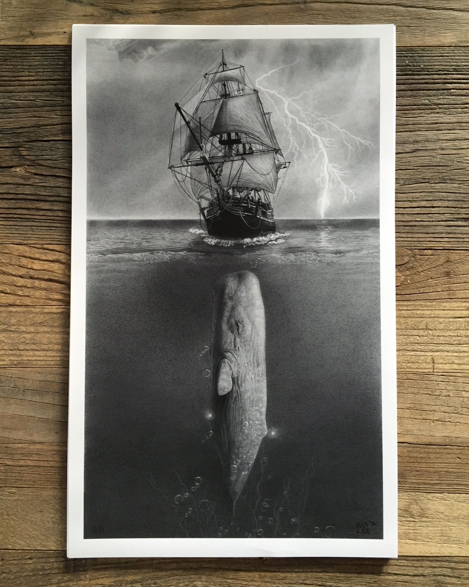 Moby Dick\' by Matthew Greskiewicz (limited edition print) from Arch ...