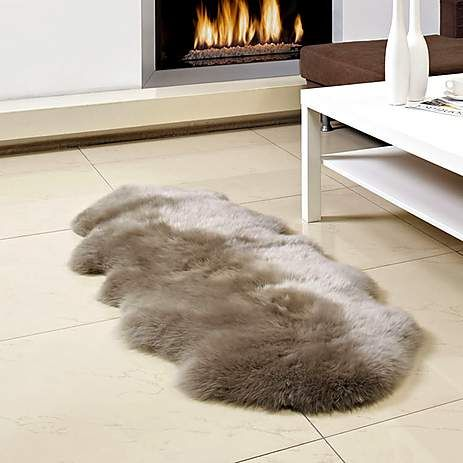 Mink Double Pelt Sheepskin Rug