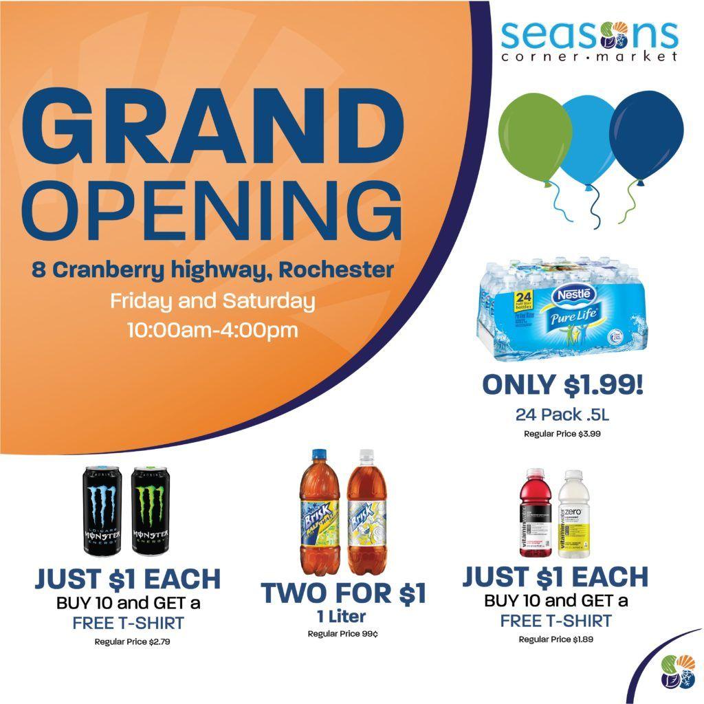 Seasons rochester ma store grand opening june 1617