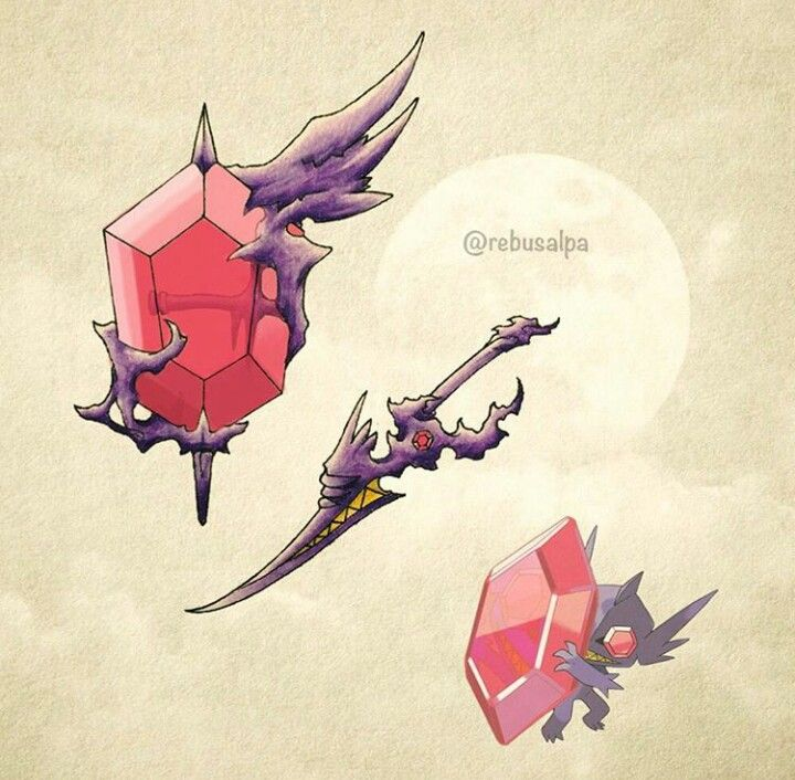 Mega sableye sword awesome pinterest pok mon arm es - Tenefix evolution ...