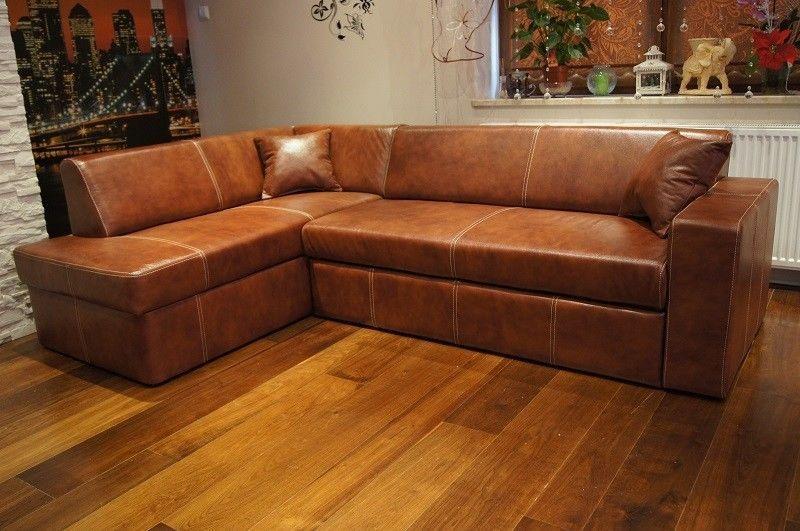 rindsleder ecksofa 100 echt leder eck couch sofa mit schlaffunktion 1150 dehnhardt ideen. Black Bedroom Furniture Sets. Home Design Ideas