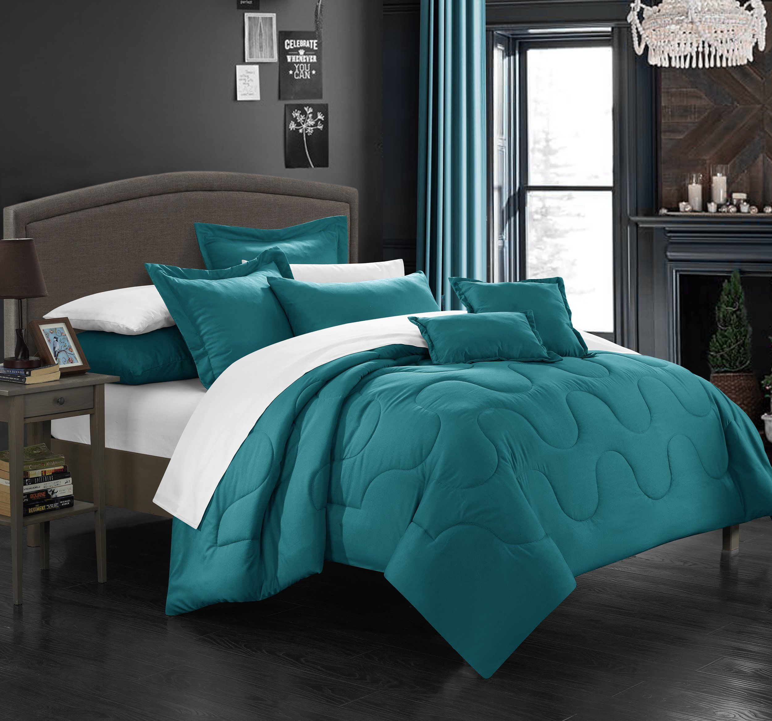 ivory teal fascinating set ecrins lodge king comforter