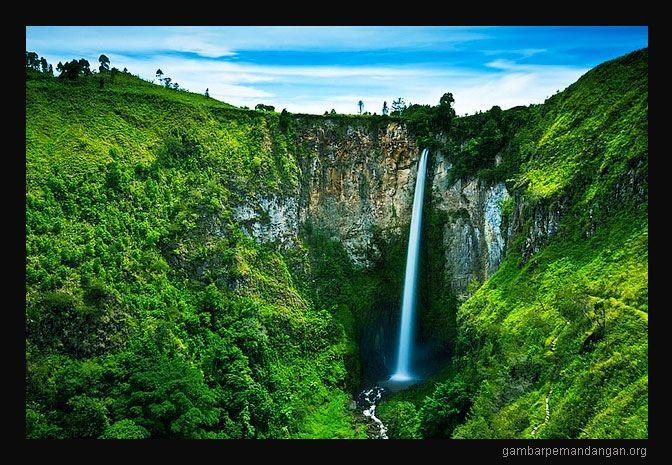 Pemandangan Air Terjun Yang Indah Gambar Pemandangan Pemandangan Air Terjun Danau Toba