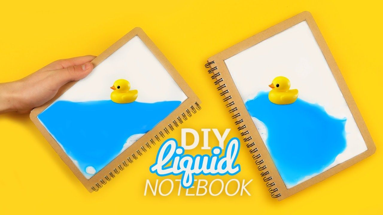 10 creative diy book cover ideas - For Today S Video I Have An Amazing Project A Diy Liquid Notebook I Hope You Like It Materials Notebook 2