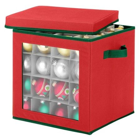 Whitmor Ornament Storage Cube - Red  Target Christmas Pinterest