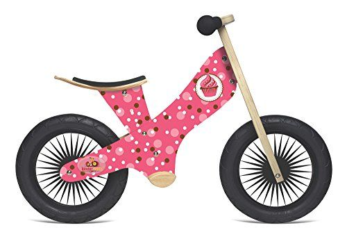 Kinderfeets Retro Wooden Balance Bike Cupcake Click On The Image For Additional Details Wooden Balance Bike Balance Bike Bicycle