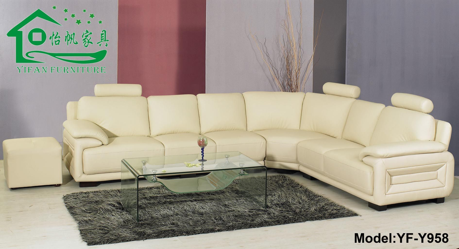 Leather Sofa Corner Sofa Sofa Bed YF Y958 Photo Details S.