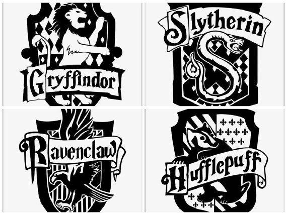 Wizard School Crest Inspired Vinyl Decal Harry Potter Houses Crests Harry Potter Stencils Harry Potter Houses