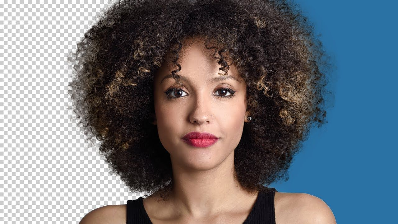 How To Remove Background In Photoshop With The New Technique Channels Afro Hairstyles Afro Hair Woman Photography Techniques