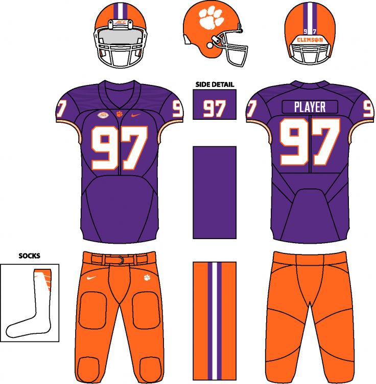 Pin by Chris Basten on Football Uniforms in 2020 Clemson