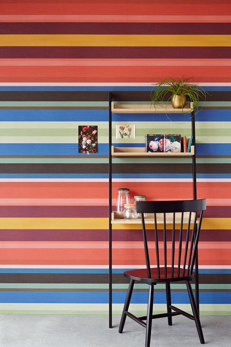 Masterpiece collection stripes in 2019 Striped wallpaper