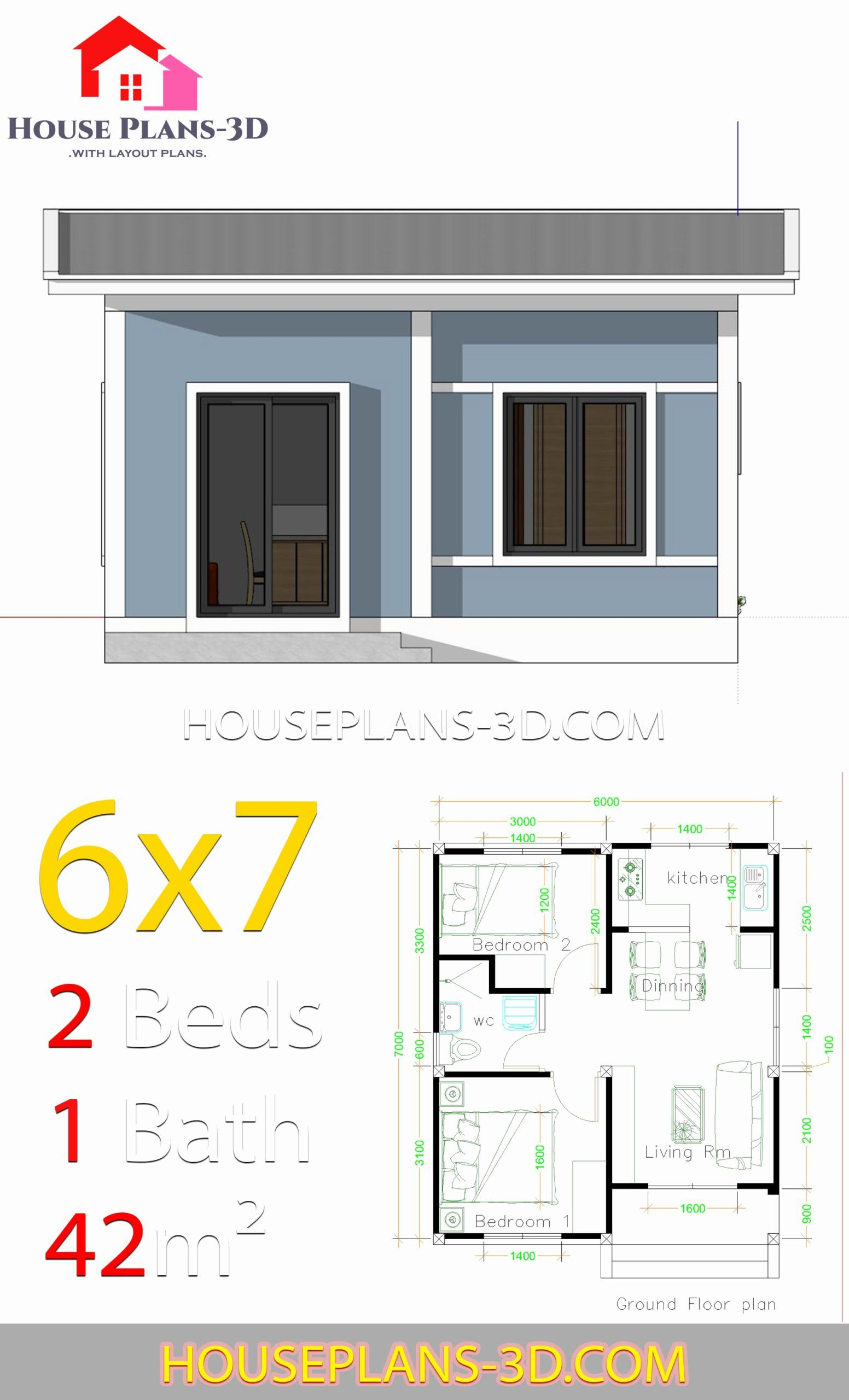 Basic House Plans Free Awesome Simple House Plans 6x7 With 2 Bedrooms Shed Roof Hous Diseno De Casas Sencillas Modelos De Casas Sencillas Diseno Casas Pequenas