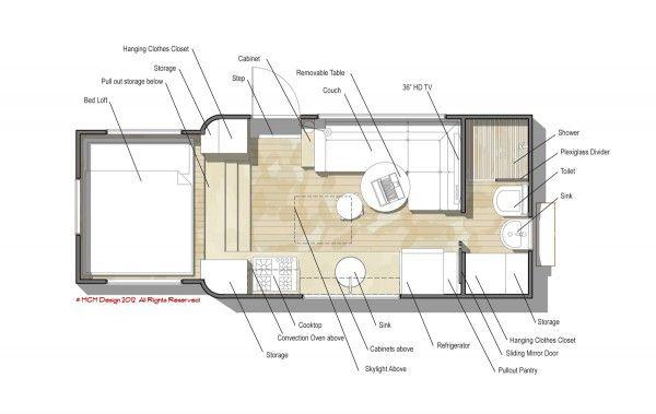 mcm design motorhome tiny house 10 600x379 Custom Truck RV: Modern  Motorhome Living or a