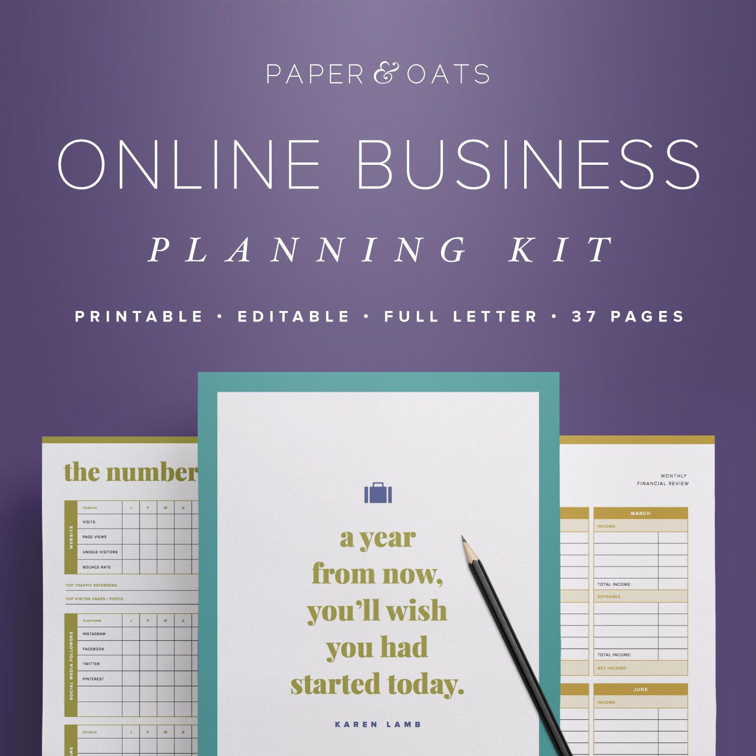 Online Business Planning Kit  Editable Small Business Planner